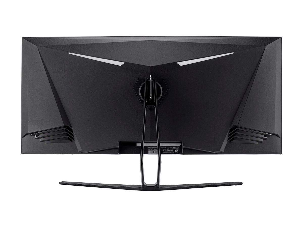 Monoprice 35in Zero-G Curved Ultra-Wide Gaming Monitor – 1800R, 21:9, 3440x1440p, UWQHD, 100Hz (120Hz OC), AMD FreeSync, 4ms, HDMI, DisplayPort, VA (EU/UK)