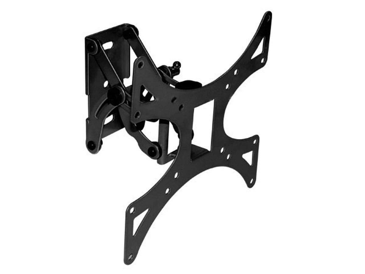 Monoprice EZ Series Full-Motion Articulating TV Wall Mount Bracket For TVs 23in to 42in, Max Weight 66 lbs, Extension Range of 3.3in to 5.8in, VESA Patterns Up to 200x200
