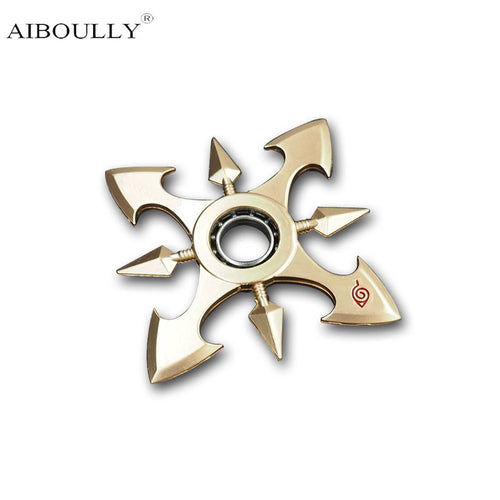 New Pattern Japanese Anime Naruto One Piece Character Weapon Models Shurikens Darts 9.5cm Kirsite Hand Spinner Children Toys