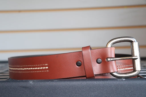 John Deere Brown Triple Stitch Belt