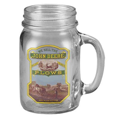 John Deere Plows Drinking Jar