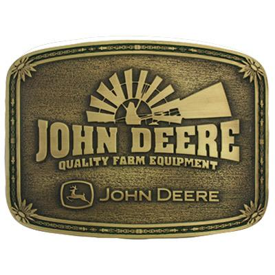 John Deere Brass Windmill Cast Buckle
