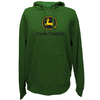 John Deere Mens Green Classic Logo Fleece Hoodie