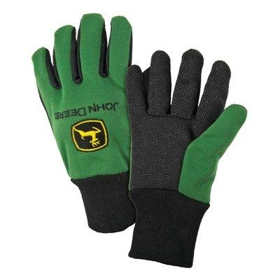 John Deere Light Duty Cotton Grip Green Glove