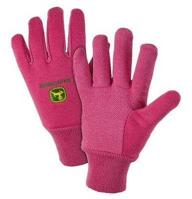 John Deere Light Duty Cotton Grip Pink Glove