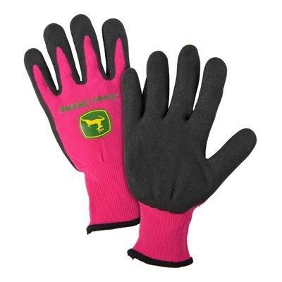 John Deere Nitrile Coated Pink Grip Glove