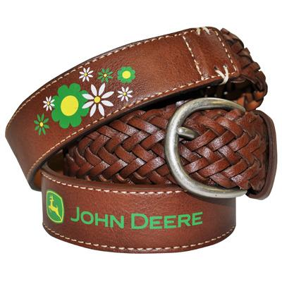 John Deere Braided Floral Belt