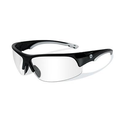 John Deere Torque-X Safety Sunglasses Clear Black
