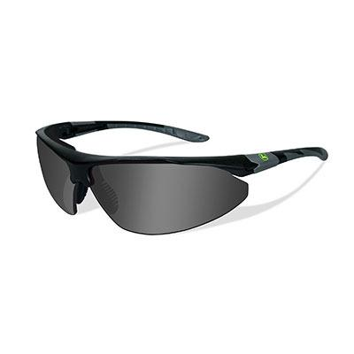 John Deere Traction-X Safety Sunglasses Grey Black
