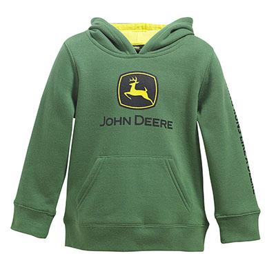 John Deere Boy Toddler Fleece Green Logo Hoodie