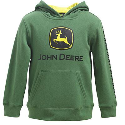 John Deere Boy Youth Trademark Fleece Logo Hoodie