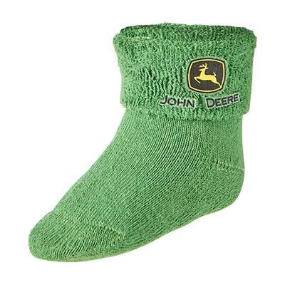 John Deere Boy Infant Green Bootie Sock