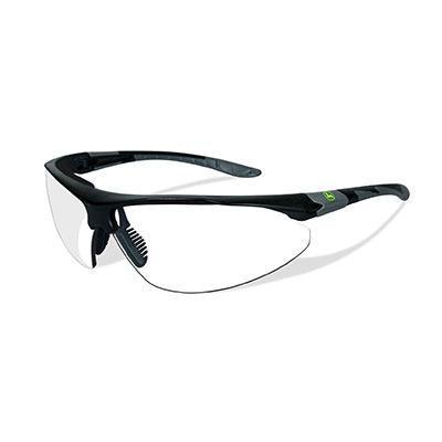 John Deere Traction-X Safety Sunglasses Clear Black