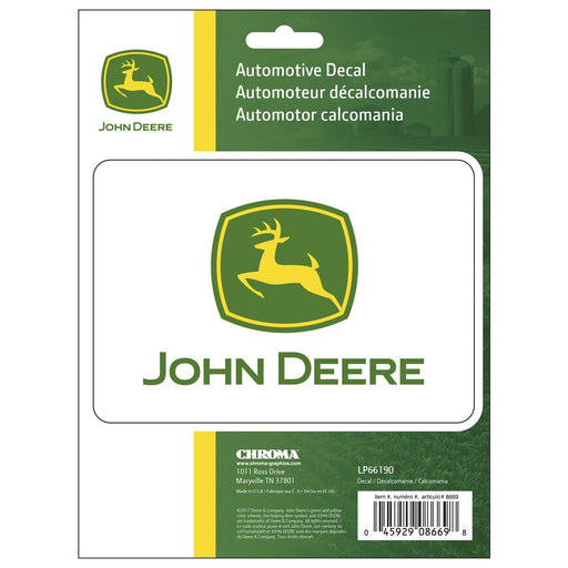 John Deere Logo Decal Sticker Set 2pc