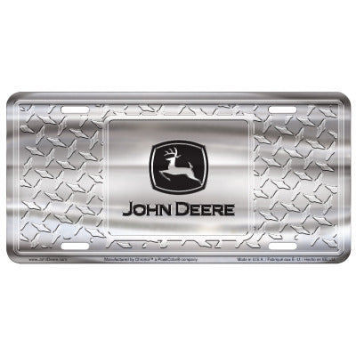 John Deere Diamond License Plate