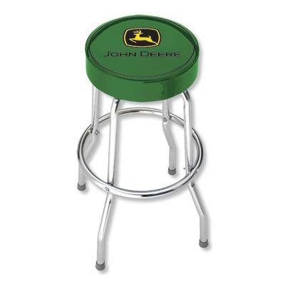 Green John Deere Garage Stool