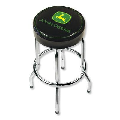 Black John Deere Garage Stool