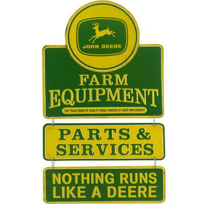 John Deere Farm Equipment Linked Tin Sign
