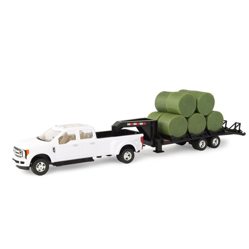 John Deere 1:32 Pickup with Trailer & Bales