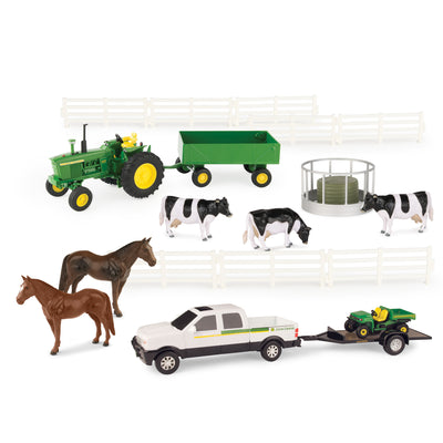 John Deere 1:32 20 Piece Farm Set