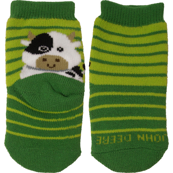 John Deere Infant Cow Crew Sock 12M