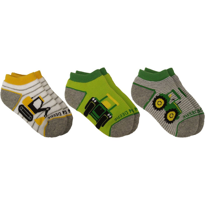 John Deere Infant Boys Shorty Sock 3 Pack