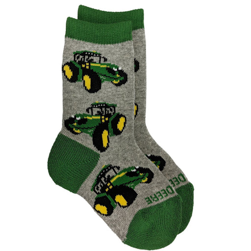 John Deere Boy Toddler Tractor Crew Sock