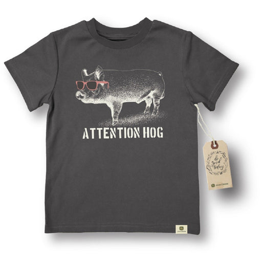 John Deere Infant Charcoal Attention Hog Tee