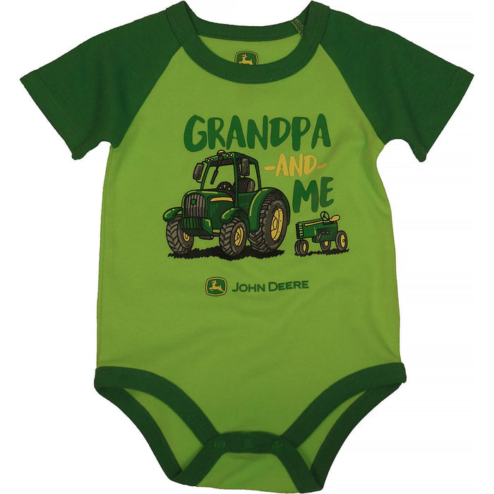 "John Deere Boy Infant Bodyshirt ""Grandpa & Me"""