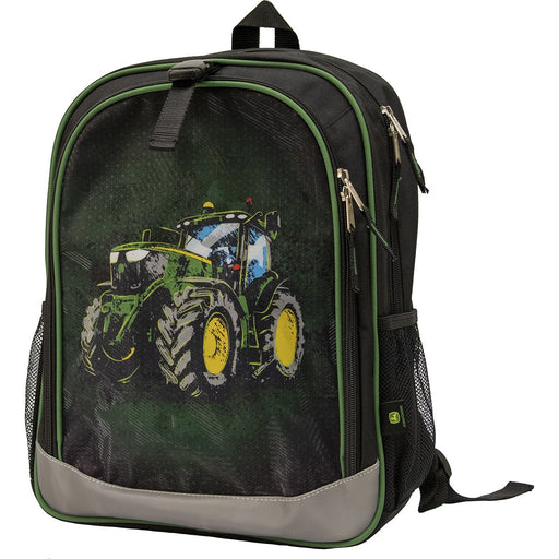 John Deere Black Tractor Backpack