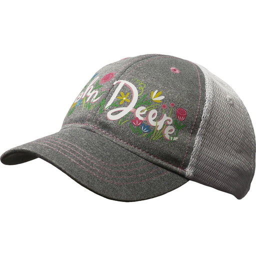 John Deere Girl Toddler Grey Flower Cap