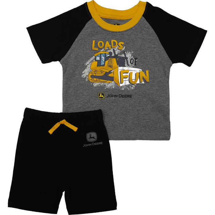 John Deere Boy Infant Loads Of Fun Short Set