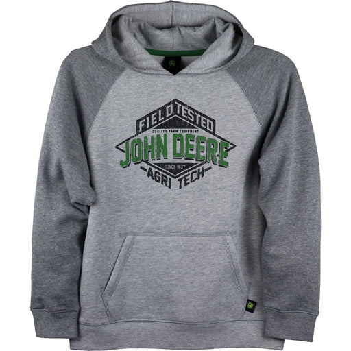 John Deer Boy Youth Grey Fleece Hoodie