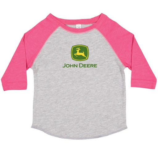John Deere Girls Toddler 3/4 Sleeve Tee Pink