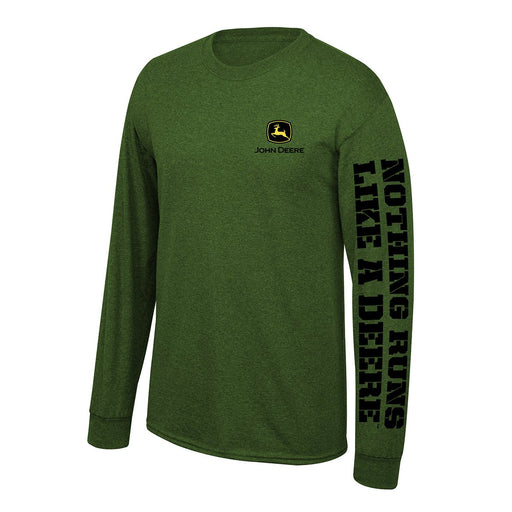 John Deere Mens Green Nothing Runs Like A Deere Long Sleeve