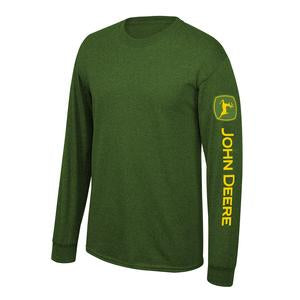 John Deere Mens Green Trademark Long Sleeve