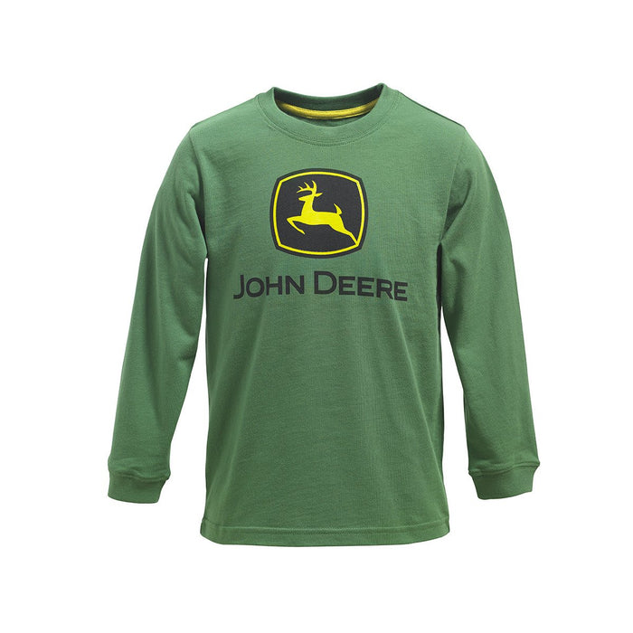 John Deere Boy Child Green Logo Long Sleeve