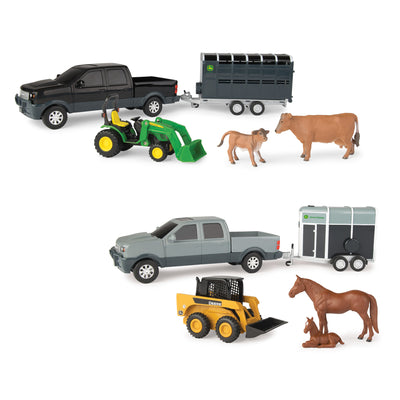 John Deere 1:32 Pickup Animal Hauling Set