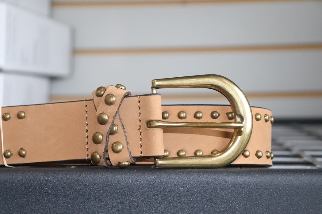 John Deere Ladies Tan Belt With Studs