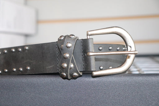 John Deere Ladies Black Belt With Studs