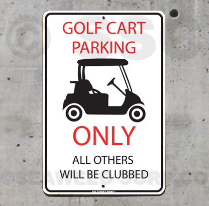 AA104 golf cart parking