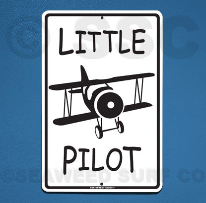 AA11 Little Pilot - Aluminum Novelty Metal Sign