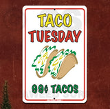 AA113 Taco Tuesday 2 - Aluminum Novelty Metal Sign