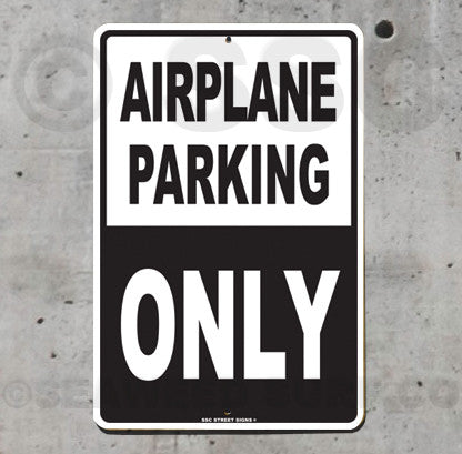 AA15 Airplane Parking - Aluminum Novelty Metal Sign