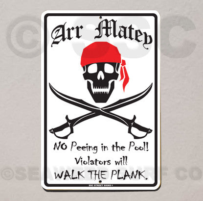 AA2 Walk the Plank - Aluminum Novelty Metal Sign