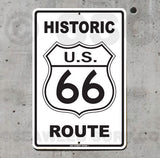 AA20 Historic Route 66 - Aluminum Novelty Metal Sign
