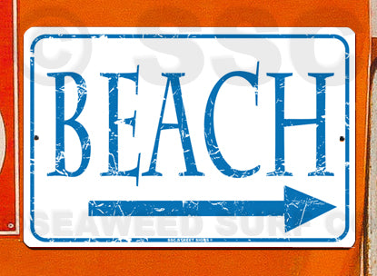 AA206 Beach - Aluminum Novelty Metal Sign