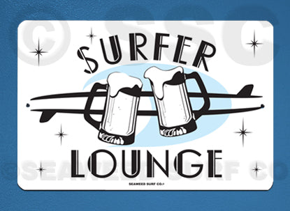 AA24 Surfer Lounge - Aluminum Novelty Metal Sign