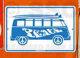 AA28 Peace Bus - Aluminum Novelty Metal Sign