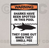 AA3 Warning Sharks in PooL - Seaweed Surf Co